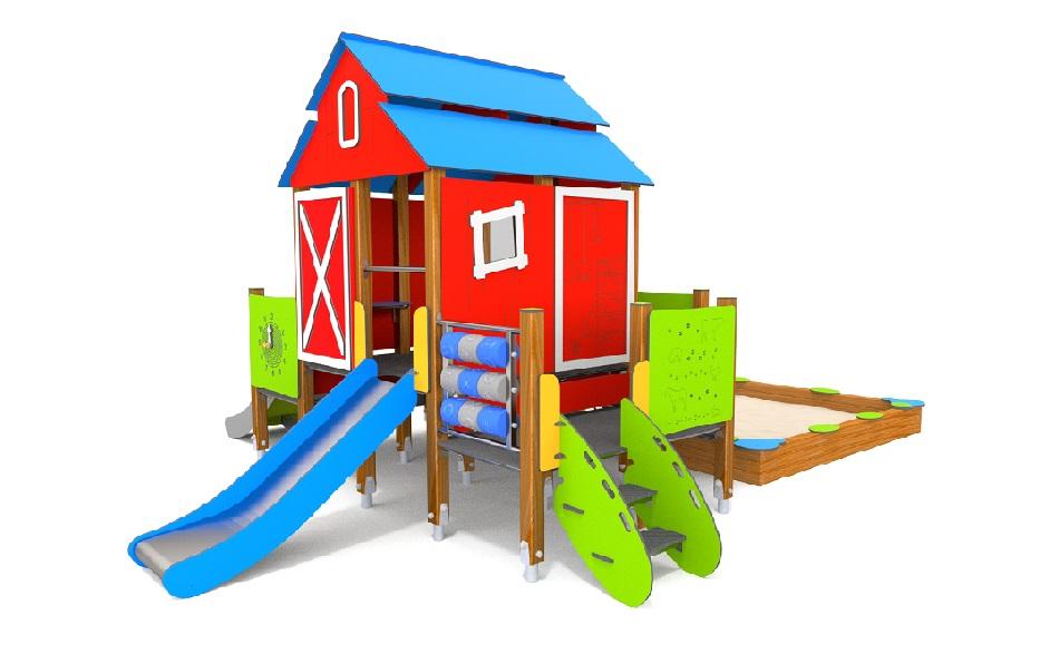 Inne rodzaje Domek Eco z piaskownicą - Playtime Group - wyposażenie placów zabaw XE51